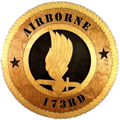 Laser Pics and Gifts: 173RD AIRBORNE Military Plaque - Laser Pics & Gifts
