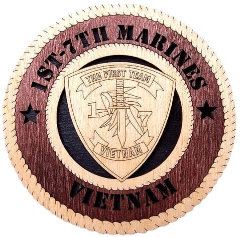"Laser Pics and Gifts: 14"" 1ST-7TH MARINES VIETNAM Military Plaque - Laser Pics & Gifts"