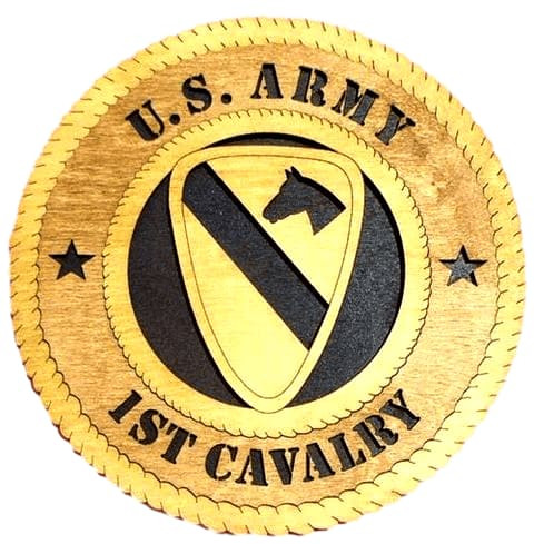 "Laser Pics and Gifts: 12"" 1ST CAVALRY Military Plaque - Laser Pics & Gifts"