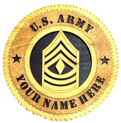 Laser Pics and Gifts: 1ST SERGEANT Military Plaque - Laser Pics & Gifts