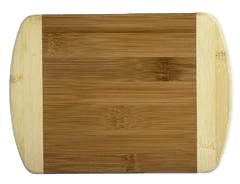 "Laser Pics and Gifts: 2-Tone 8"" Bamboo Cutting Board - Laser Pics & Gifts"