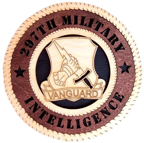 "Laser Pics and Gifts: 14"" 297TH Military INTELLIGENCE Military Plaque - Laser Pics & Gifts"