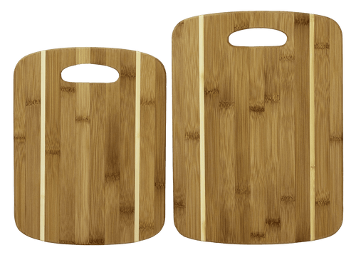 Laser Pics and Gifts: 2 Piece Striped Bamboo Cutting Board - Laser Pics & Gifts