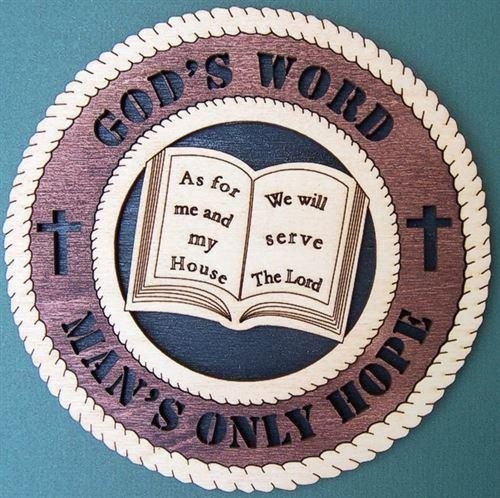 Laser Pics and Gifts: 3-D GOD'S WORD Spiritual Plaque - Laser Pics & Gifts