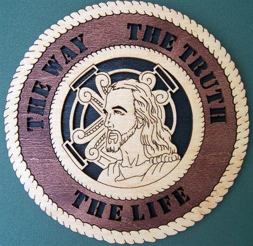 Laser Pics and Gifts: 3-D JESUS Spiritual Plaque - Laser Pics & Gifts