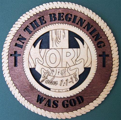 "Laser Pics and Gifts: 12"" 3-D JOHN 1:1-18 Spiritual Plaque - Laser Pics & Gifts"