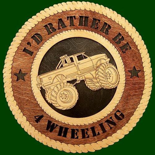 Laser Pics and Gifts:  4x4 TRUCK Plaque - Laser Pics & Gifts