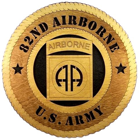 Laser Pics and Gifts: 82ND AIRBORNE Military Plaque - Laser Pics & Gifts