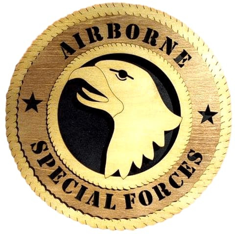 "Laser Pics and Gifts: 12"" Airborne Special Forces Military Plaque - Laser Pics & Gifts"