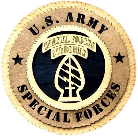 "Laser Pics and Gifts: 12"" Army Special Forces Military Plaque - Laser Pics & Gifts"