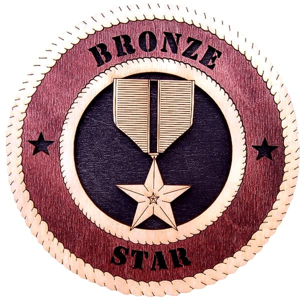 Laser Pics and Gifts: BRONZE STAR - Laser Pics & Gifts