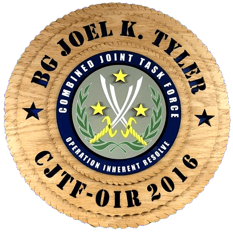 Laser Pics and Gifts: CJTF Combined Joint Task Force Plaque - Laser Pics & Gifts