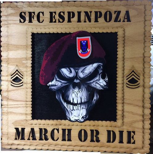 Customized Military Plaque Square