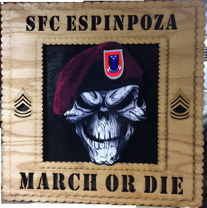 Laser Pics and Gifts: Customized Military Plaque Square - Laser Pics & Gifts