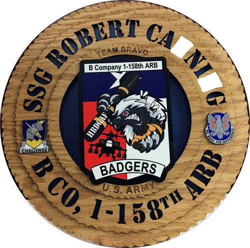 Customized Military Plaque Three