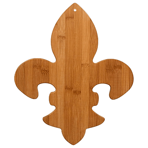 Laser Pics and Gifts: Fleur de Lis Cutting Board - Laser Pics & Gifts