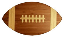 Bamboo Football Cutting Board | Laser Pics & Gifts