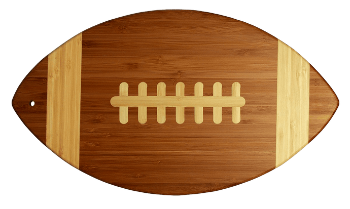 Laser Pics and Gifts: Bamboo Football Cutting Board - Laser Pics & Gifts