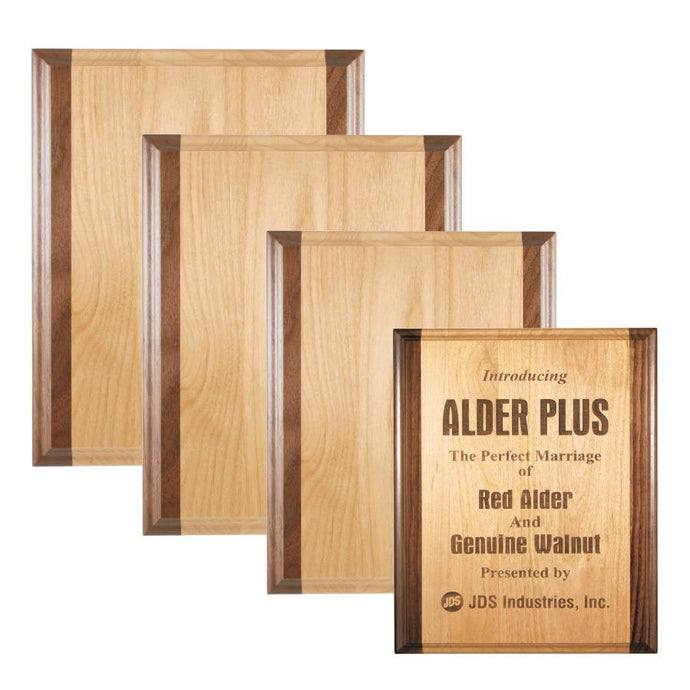 Laser Pics and Gifts: Genuine Red Alder & Genuine Walnut Plaque - Laser Pics & Gifts