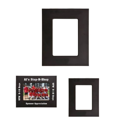 Laser Pics and Gifts: Black/Silver Laser Metal Picture Frame - Laser Pics & Gifts
