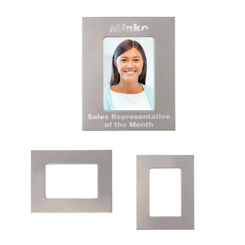 Silver/Silver Laser Metal Picture Frame