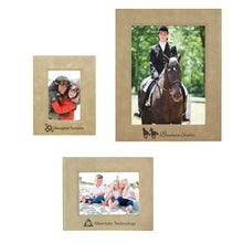 Laser Pics and Gifts: Light Brown Leatherette Picture Frame - Laser Pics & Gifts