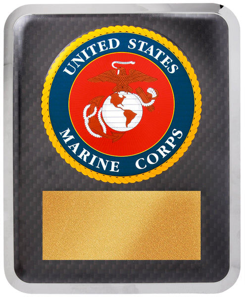 "10 1/2"" x 13"" Marine Corps Hero Gold w Black Text"