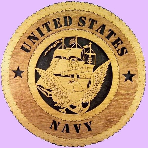 "Laser Pics and Gifts: 12"" NAVY ENLISTED Plaque - Laser Pics & Gifts"
