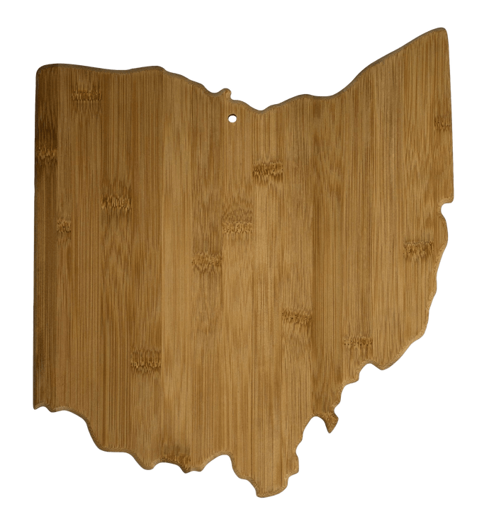 Ohio State Bamboo Cutting Board | Laser Pics & Gifts