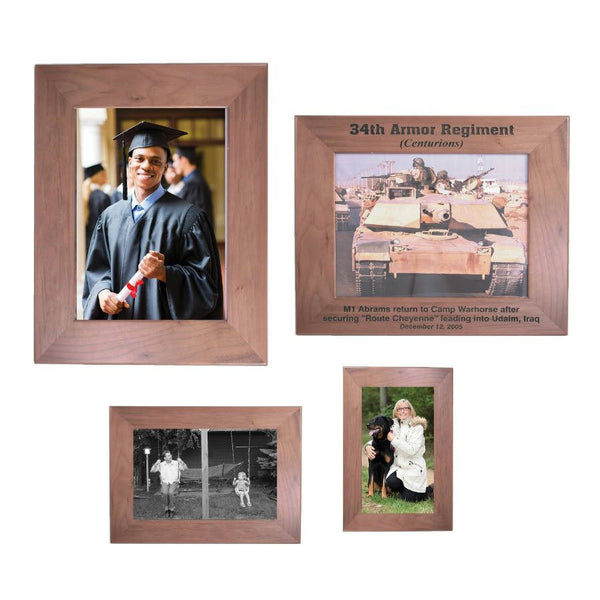 Laser Pics and Gifts: Genuine Walnut Picture Frame - Laser Pics & Gifts