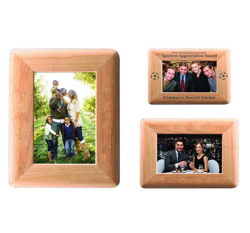 Round Corner Genuine Red Alder Picture Frame
