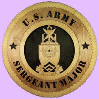 "Laser Pics and Gifts: 12"" SERGEANT MAJOR ACADEMY Military Plaque - Laser Pics & Gifts"