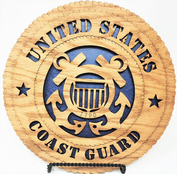"Laser Pics and Gifts: 12"" COAST GUARD Military Plaque - Laser Pics & Gifts"