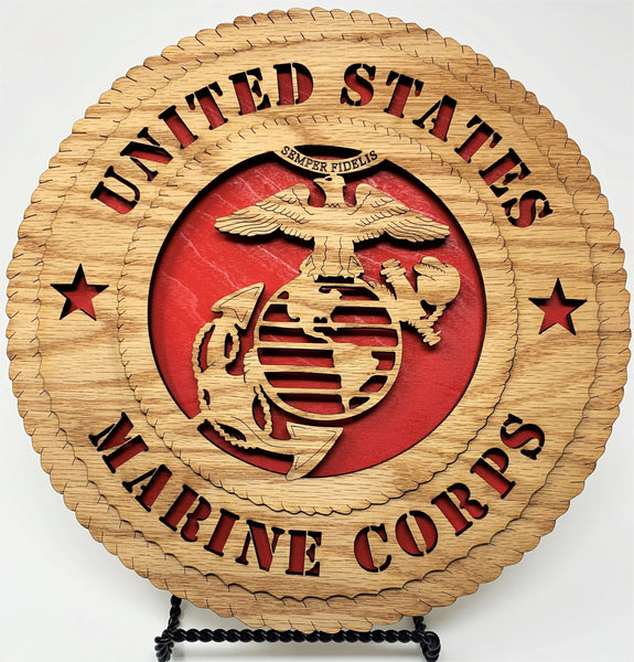 Laser Pics and Gifts:  Standard Marine Corps Plaque - Laser Pics & Gifts