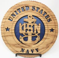 "Laser Pics and Gifts: 12"" Standard Navy Plaque - Laser Pics & Gifts"