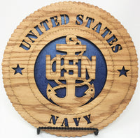 Laser Pics and Gifts:  Standard Navy Plaque - Laser Pics & Gifts