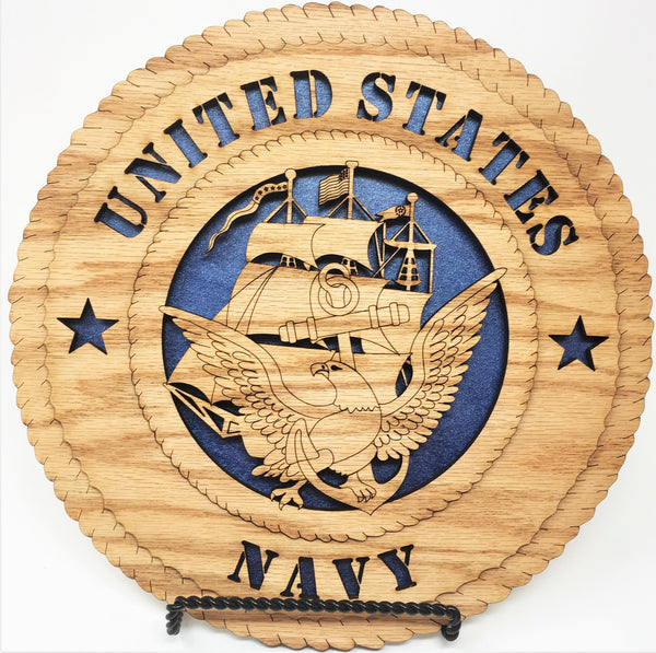 Laser Pics and Gifts:  Standard Navy Ship Plaque - Laser Pics & Gifts