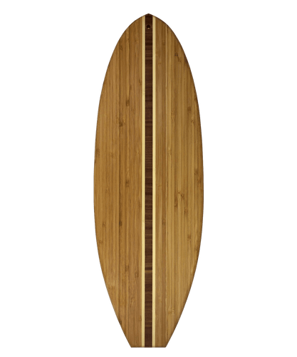 Surfboard Bamboo Serving and Cutting Board | Laser Pics & Gifts