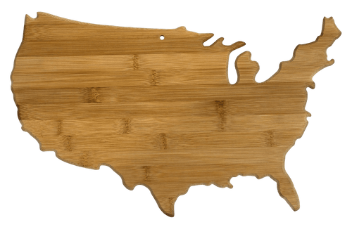 USA Bamboo Serving and Cutting Board | Laser Pics & Gifts