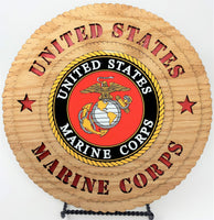 Laser Pics and Gifts:  US Marine Corps Color Plaque - Laser Pics & Gifts