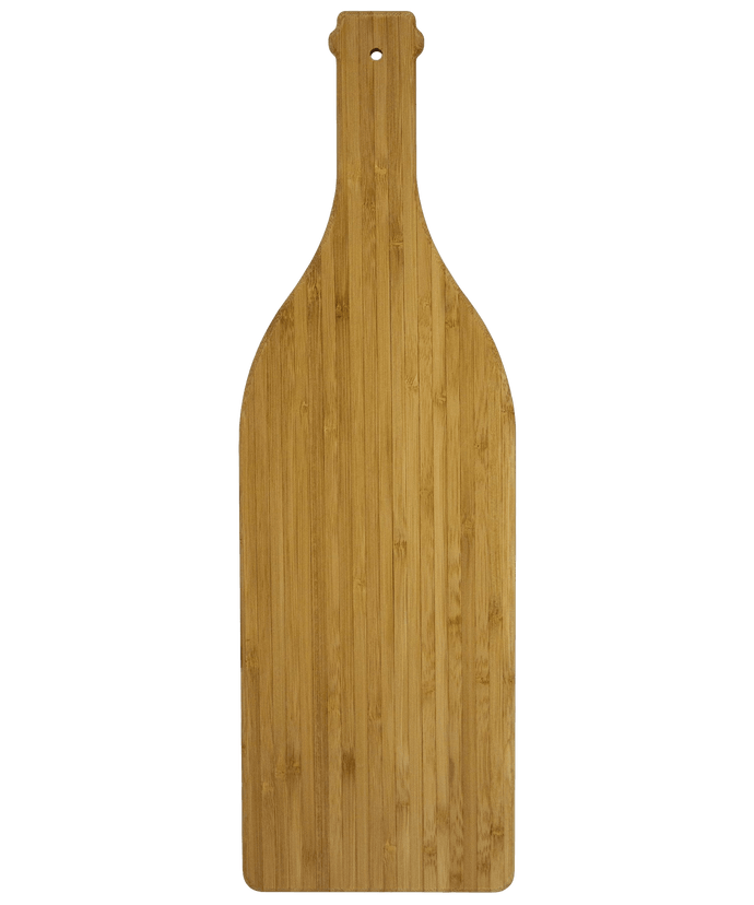 Wine Bottle Serving and Cutting Board | Laser Pics & Gifts