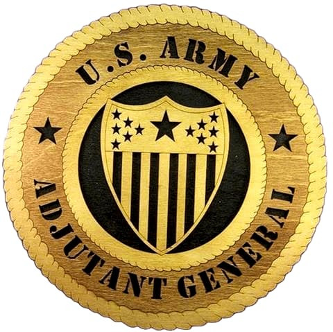 Laser Pics and Gifts: ADJUTANT GENERAL Military Plaque - Laser Pics & Gifts