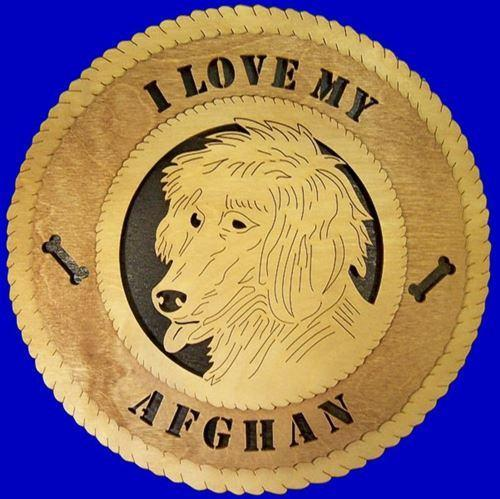 Laser Pics and Gifts: AFGHAN, Dog Plaque - Laser Pics & Gifts