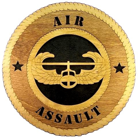 Laser Pics and Gifts:  AIR ASSAULT Military Plaque - Laser Pics & Gifts