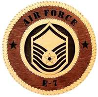 Laser Pics and Gifts: AIR-FORCE-E-8 Military Plaque - Laser Pics & Gifts