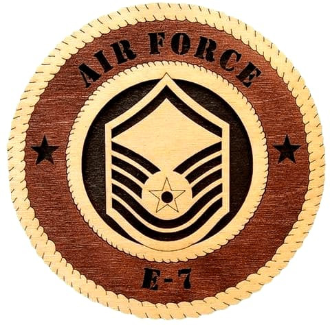 "Laser Pics and Gifts: 12"" AIR-FORCE-E-8 Military Plaque - Laser Pics & Gifts"