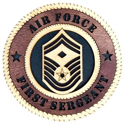 "Laser Pics and Gifts: 12"" AIR FORCE MASTER SGT E-9 Military Plaque - Laser Pics & Gifts"