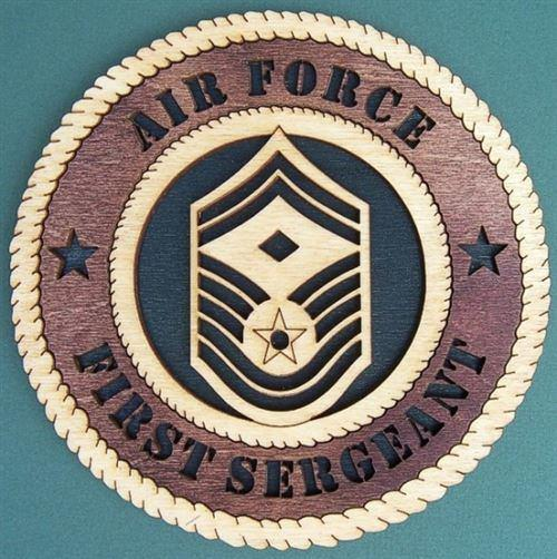 Laser Pics and Gifts: AIR FORCE FIRST SERGEANT E-7 Military Plaque - Laser Pics & Gifts