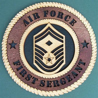 "Laser Pics and Gifts: 12"" AIR FORCE FIRST SERGEANT E-7 Military Plaque - Laser Pics & Gifts"
