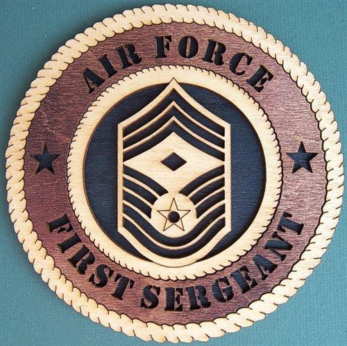 "Laser Pics and Gifts: 12"" AIR FORCE FIRST SERGEANT E-9 Military Plaque - Laser Pics & Gifts"